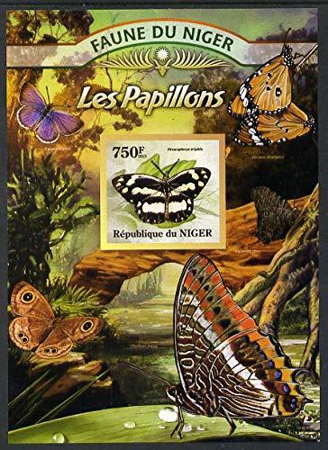 Niger Republic 2013 Butterflies #3 imperf m/s u/m BUTTERFLIES JandRStamps