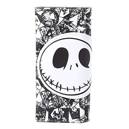 JAGENIE - Bolso de Mano para Mujer, Piel sintética, diseño de Calavera Punk, Piel sintética, 1, 19x19x1cm