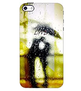 PrintDhaba RAIN LOVE D-6359 Back Case Cover for APPLE IPHONE 5 (Multi-Coloured)
