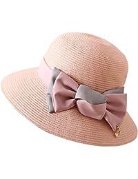 Cappello da Sole da Donna Cappello - Cappello di Paglia Donna Estate Viaggio  Spiaggia Cappello Pieghevole 7ccd2032cd77