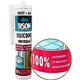 Mastic silicone Blanc, universel Mastic Enduit d'élasticité permanente. résistant à l'eau d'étanchéité sur une base d'acide acétique. Peut être utilisé en intérieur et en extérieur. résistant aux UV et aux intempéries. résistant aux moisissures, résistant à l'eau (mer), Résistant aux températures à partir de -30Celsius à + 150Celsius, séchage rapide, facile à appliquer. contenu Suffisante pour environ 14m Joint 6x 6mm. non à peindre.