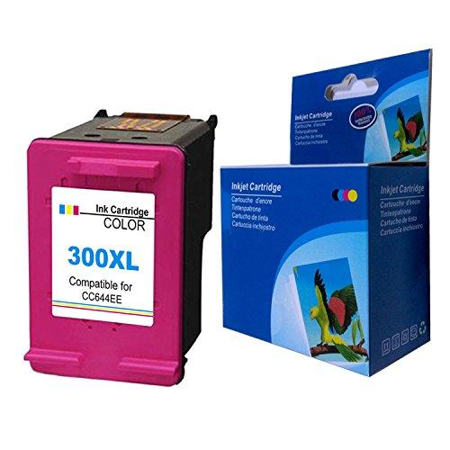 Foto de Kyansin 1 Cartuchos de Tinta Remanufacturados 300XL Tricolor 300 XL Reemplazar para HP DeskJet 1510 2540 2543 OfficeJet 2620 All-in-One Impresora Envy 4500 5530 OfficeJet 4630 e-All-in-One Impresora