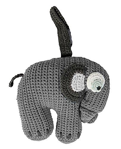 Häkel Spieluhr Elefant grau
