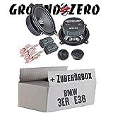 BMW 3er E36 Heck - Ground Zero GZIC 13X Kompo - 13cm Lautsprecher System - Einbauset