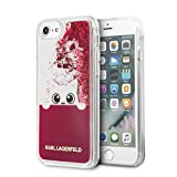Karl Lagerfeld Peek-A-Boo Transparent TPU Case for iPhone 8/7 - Pink
