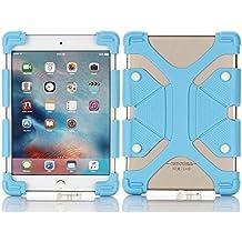 "Tsmine soporte Universal a prueba de golpes suave silicona piel Funda elástica para conectar Tablet azul claro HIPSTREET Pilot 10"""