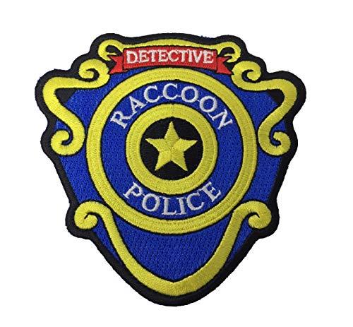 Super6props Resident Evil Raccoon City Polizei Detective Eisen auf Patch (95mm) gestickt