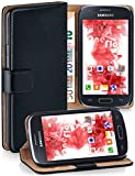 moex Booklet mit Flip Funktion [360 Grad Voll-Schutz] für Samsung Galaxy Ace Style | Geldfach und Kartenfach + Stand-Funktion und Magnet-Verschluss, Schwarz