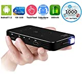 Mini projecteur, Pocket Projector, LiveTV.Direct M8T Touch Panel Android Smart Projector Mini Slim Wireless with Batteries and LiveTV Services (32GB)