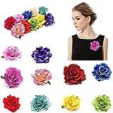 #8: Fida Arts Rose Flower Hairpin Brooch Hair Clip Wedding Bridal/Bridesmaid Party Accessories