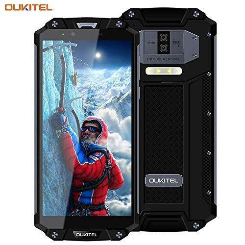 """OUKITEL WP2 - Robusto Teléfono Móvil 6.0"""" Pantalla 18:9 Dual SIM IP68 Resistencia al Polvo y Golpes Octa-Core 1.5GHz 4GB+64GB Cámara 16MP/2MP+8MP Batería 10000 mAh Android 8.0 GPS - Nergo"""