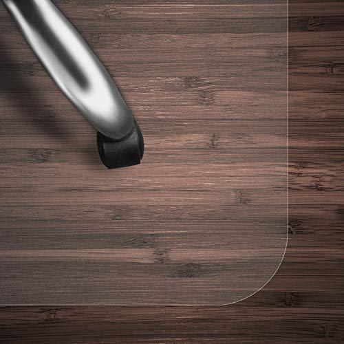casa pura Bodenschutzmatte Transparent für Hartboden | Schreibtischstuhl Unterlage für Büro und Wohnen | Bodenmatten wahlweise für Teppich/Hartböden (Hartboden 120x130 cm)