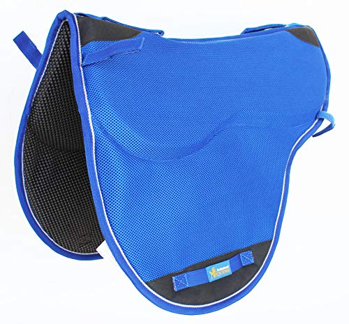 TackRus Pferd Western Englisch Endurance baumlosen Nonslip Neopren Sattel Pad Blau 6405bl Western Non-slip