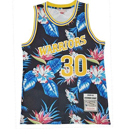 KKSY Camiseta de Baloncesto Hombres Guerreros # 30 Stephen Curry Versión de Flor Versión Vintage Fitness Chaleco Deportes Top,M