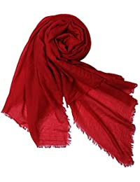 niceEshop(TM) Women Solid Color Plus Long Extra Large Scarf Soft Signature Cotton Wrap Shawl Scarves