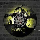 HAOLY Hobbit-wanduhr,LED-wanduhr,Vinyl Record wanduhr,Home Kunst Dekoration Gedenkmünze Wanduhr-A 30cm(12inch)