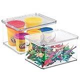 mDesign panier de rangement pour jouets (lot de 2) - bac de stockage pour jouets,...