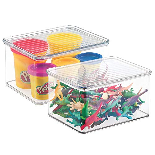 MDesign Juego 2 organizadores juguetes tapa - Cajas