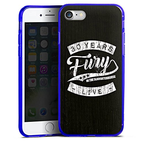 Apple iPhone 8 Silikon Hülle Case Schutzhülle Fury in the Slaughterhouse Merchandise Rock Silikon Colour Case blau