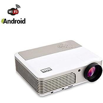 Projecteur Wifi Android,Mileagea Vidéoprojecteur LED 2600 Lumens 1280x600 Full HD pour Home Cinéma Vidéo Film Education TV