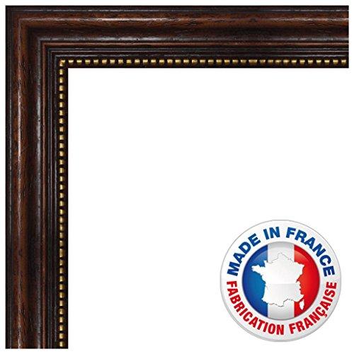 Wand Bilderrahmen 16x24 / 16 x 24 cm Rahmen Elegante Brown, 3.3 cm breiten Holzleisten, Holzrahmen