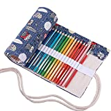 Abaría - 2 unidades bolso de lapices con estuches transparente para arte y officina suministros metal, búho 72 agujeros