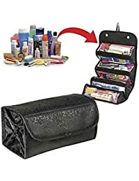 PeepalComm Roll N Go Travel Buddy Cosmetic Toiletry Bag (Black)