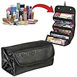 MaxelNova® Roll N Go Travel Buddy Cosmetic Toiletry Bag (Black)