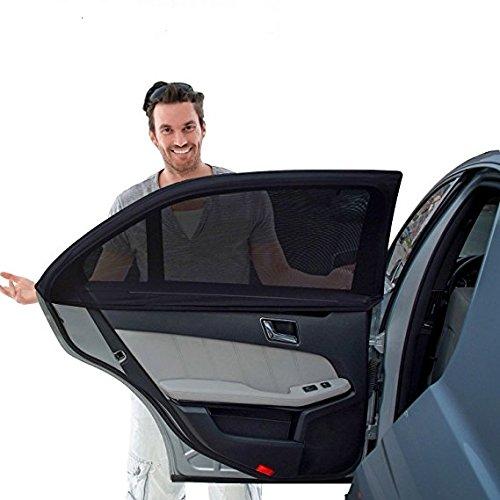 Kinder und Baby Auto-Sonnenschutz (2 Stück), Komplette Abdeckung des Fensters,99%, 2 Stück, schützt Ihre Kinder und ältere Kinder vor der Sonne, passend für alle Autos, SUVs, Weiß (Musik-auto-sitzbezüge)