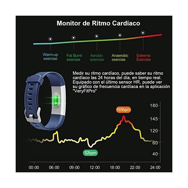 Rayfit Pulsera Actividad Inteligente Reloj Deportivo Impermeable Fitness Tracker Monitor de Ritmo Cardíaco Podómetro… 3