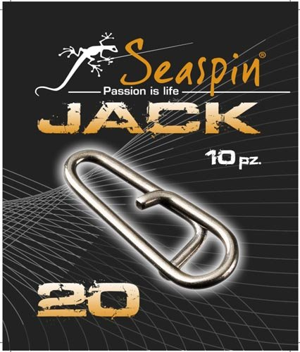 Seaspin Snap-Karabiner Jack Fast Links, 10Stück 20 lb Black Jack-snap