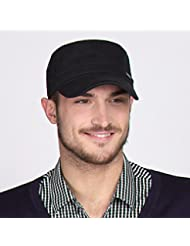 WF:sombrero de las señoras La Sra visera sombrero varón al aire libre se divierte el casquillo gorra de béisbol del sombrero del sol del sombrero ocasional alargó ( Color : Negro )