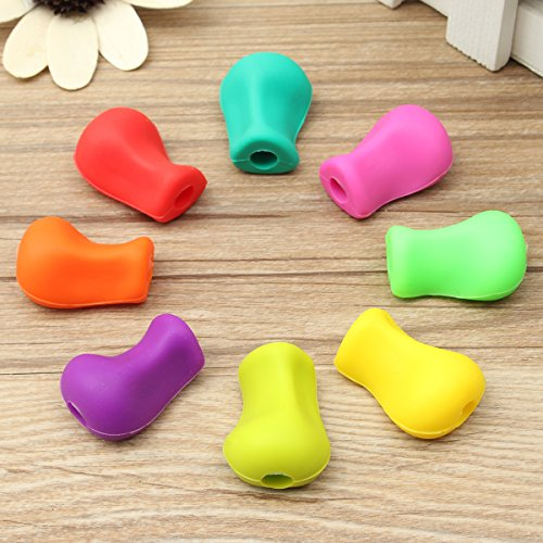 Global Brands Online 8pcs Pencil Grips Occupational Therapy Handwriting Aid Kids Pen Control Right Silicone Writing