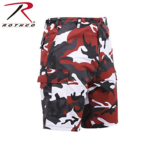 Red Camo Shorts (Rothco Men's Colored Camo BDU Shorts Camo Red L)