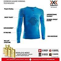 X-Bionic Invent® 4.0 Shirt Round Neck Long Sleeves Junior Capa De Base Camiseta Funcional, Unisex niños, Teal Blue/Anthracite, 10/11