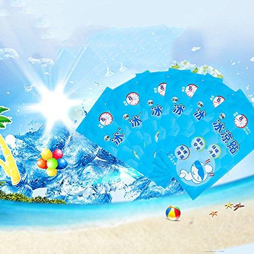 mmer Cartoon Kühlung Aufkleber Kalt Paste Sommer Kühlung Erfrischend Kalt Eisbeutel Cool, Anzug für Schule Büro Outdoor Sport Reise, beste Geschenk für Kinder Kind Männer Frauen ()