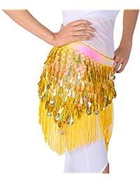 638317021e23 Magogo Danse du Ventre écharpe Hanche Triangle Jupe Ceinture Taille chaîne  avec des Paillettes et des