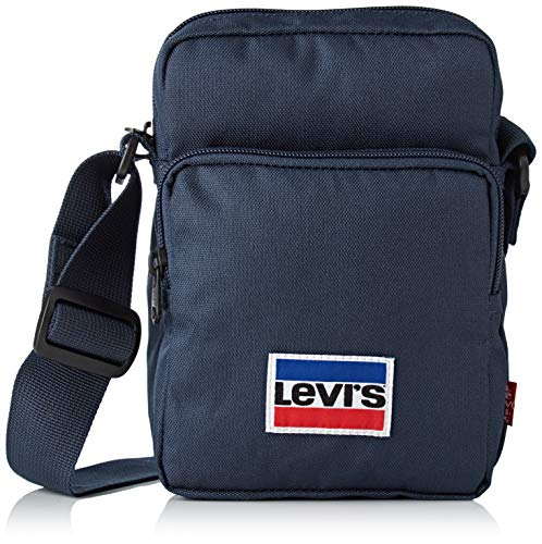 Fähnchen-patch (Levi's Herren L Series Small Cross Body Sportswear Clutch, Blau (Navy Blue), 8x20x14 Centimeters)