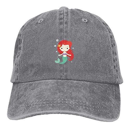 2d418ffbff0 Jxrodekz Cartn Mermaid Girl Cute Unisex Gorra de béisbol Ajustable papá Hat  6269