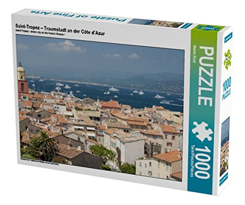 Preisvergleich Produktbild Saint-Tropez – Traumstadt an der Côte d'Azur 1000 Teile Puzzle quer: Treffpunkt der Künstler und der High Society (CALVENDO Orte)