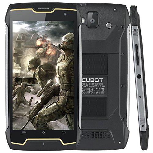 CUBOT Ruggest Outdoor Smartphone, Kingkong freigesetzter SIM-freier Handy, 4400mAh Kompass + GPS, Android 7.0, 3G WCDMA Doppel-SIM, 2+16GB, IP68 imprägniern 5 Zoll HD IPS Handy (Schwarz)