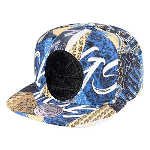 Mitchell & Ness NBA Paysage All Over Team Printed Graphic Adjustable Snapback Hat, Unisex, Einheitsgröße - Krone Logo Tee