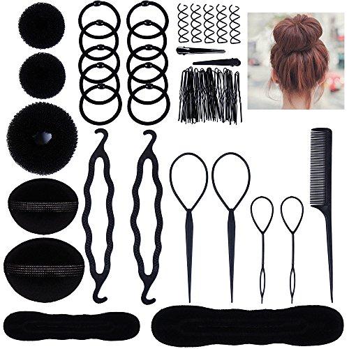 Lictin Haare Frisuren Set Frisurenhilfe Set Haare Styling Set Haar Clip-Pads Haar Frisur Klammer Haar Styling Werkzeug Set Haar Styling Zubehör Haar Styling festgelegt Kit - Set Haar-clip,