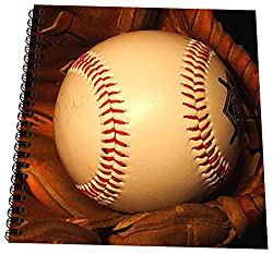3dRose db_4387_3 Baseball-Mini Notepad, 4 by 4