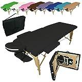 Vivezen ® Table de massage pliante 2 zones en bois avec panneau Reiki + accessoires et housse de transport - Neuf coloris - Norme CE