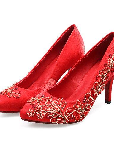 WSS 2016 Chaussures de mariage-Rouge-Mariage / Soirée & Evénement-Talons / Bout Ouvert-Sandales / Talons-Homme red-us5.5 / eu36 / uk3.5 / cn35