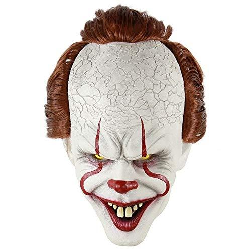 WULIHONG-MaskeHalloween Horror Zauberer Clown Maske Latex Vollmaske für Maskerade Halloween Party Escape Dress Up Party Maske für ErwachseneB
