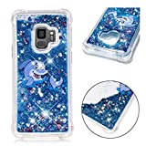 Samsung Galaxy S9 Hülle, JINCHANGWU Transparente weiche Gel TPU Silikonhülle, Flüssiger Quicksand Floating Luxury Bling Glitter Sparkle Diamond Shockproof (Fisch)