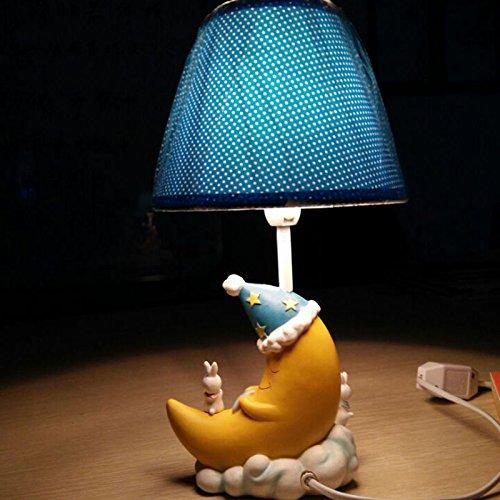 Ceramica scheggiato telecomando le lampade da scrivania 23*14cm,B) (Orchid azzurro fiori) , interruttore di comando remoto