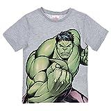 Supereroi Marvel Avengers Marvel Avengers - T-Shirt Maglia Maglietta a Maniche Corte Full Print - Bambino - Novità Prodotto Originale 1901RE [Hulk Grigio - 10 Anni - 140 cm]
